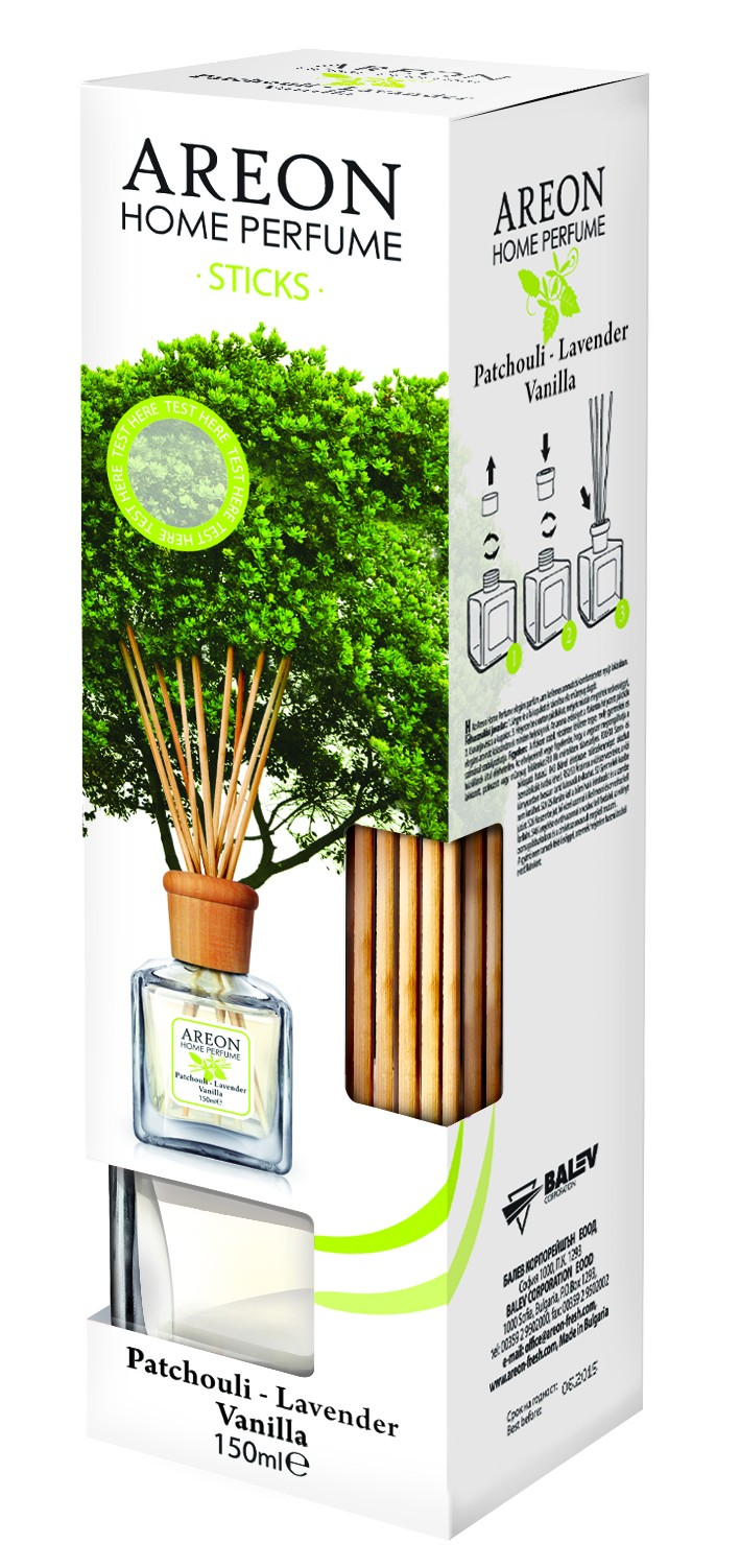 AREON HOME PERFUME STICKS 150ML PATCH. LAV. VANILL