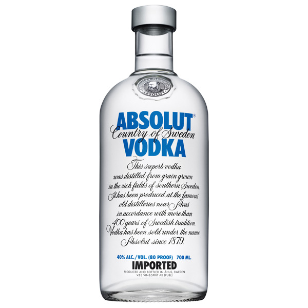 VODKA ABSOLUT 40%VOL 0.700ML