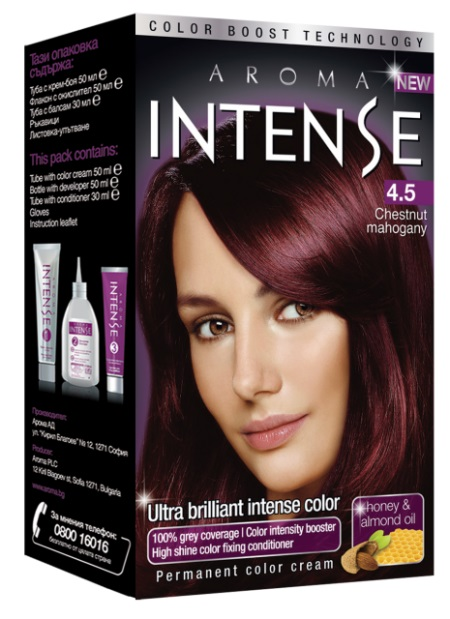 AROMA  INTENSE COLOR N:4.5  50 ML  V3 CHES.  MAHAG