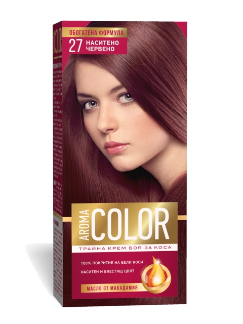 AROMA COLOR POUR CHEVEUX 27 45 ML DEEP RED