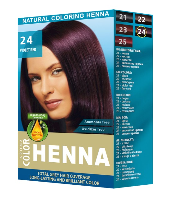 AROMA COULEUR HENNÉ 24  VIOLET RED